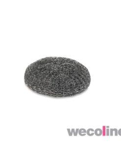 Metalen schuurbol, 40 gram, grijs.