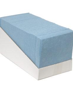 Sopdoek blauw 140gr/m2,38x40cm, 65st. Dispenser karton.