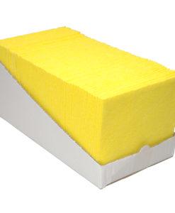 Sopdoek geel 140gr/m2,38x40cm, 65st. Dispenser karton.