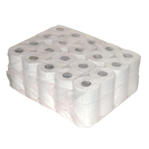Toiletpapier 400vel, wit, 2-laags 10x4rol p/colli.