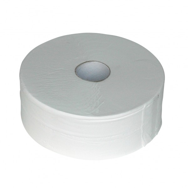 Toiletpapier maxi rol, wit, 380mtr, 2-laags, 6 rol p/colli.