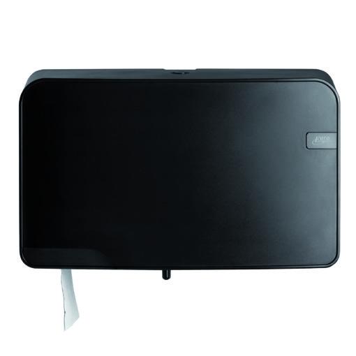 Toiletrolhouder Mini Jumbo duo Quartz zwart