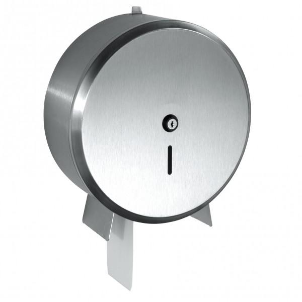 Toiletrolhouder voor de jumbo maxi toiletrol, roestvrijstaal.