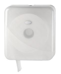 Toiletrolhouder voor de jumbo maxi toiletrol, wit.