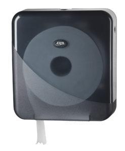 Toiletrolhouder voor de jumbo maxi toiletrol, zwart.