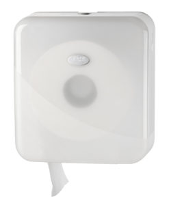 Toiletrolhouder voor de jumbo mini toiletrol, wit.