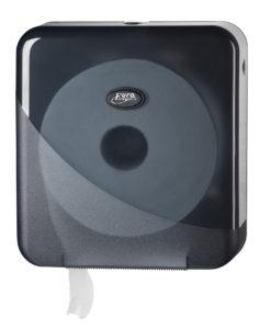 Toiletrolhouder voor de jumbo mini toiletrol, zwart.