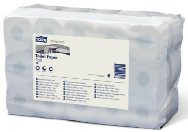 Tork Advanced 2-laags toiletpapier. 400 vel per rol. 30 rollen à 50 meter.