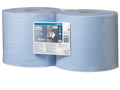 Tork Advanced Wiper 420 Combi Roll poetsdoek, blauw (W1/W2), 2-laags, 2 rol/colli.