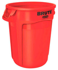 VB 002632 rood Brute container 121 ltr