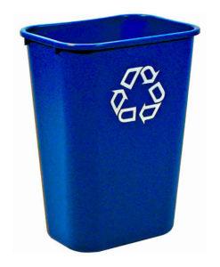 VB 002957 blauw Rechthoekige afvalbak 39