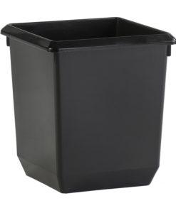 VB 045440 zwart vierkante papierbak 21 l