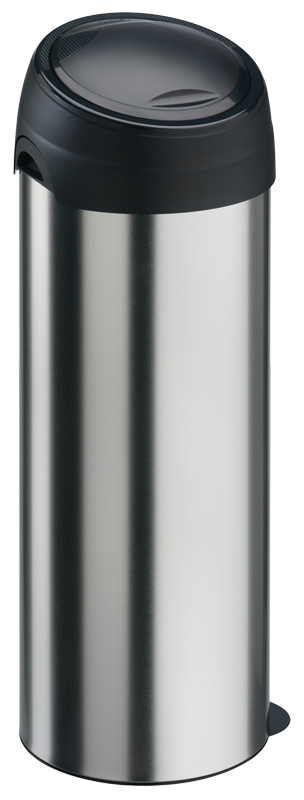VB 140013 RVSlook/zwart Touchbin 40 ltr