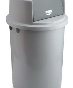 VB 200126 grijs Afvalbak Push 126 ltr