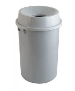 VB 200990 grijs Ronde afvalbak open 90l