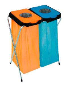 VB 211302 blauw/oranje EkoThinks 2 afval