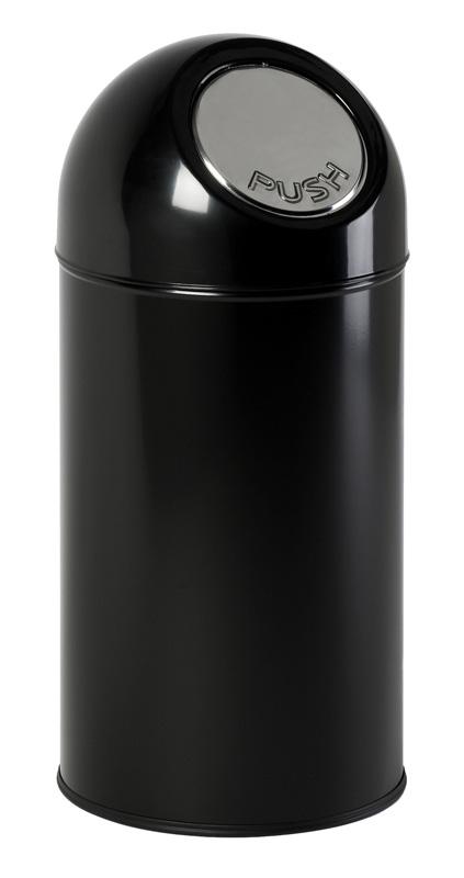 VB 480001 zwart Pushbin 40 ltr