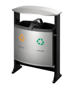 VB 650392 alugrijs Buitenafvalbak recycl