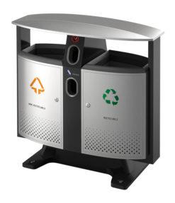 VB 650408 alugrijs Buitenafvalbak recycl