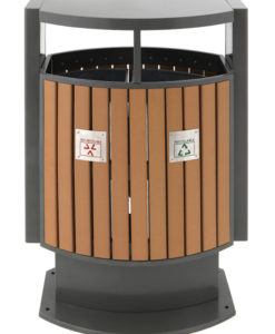 VB 650422 houtlook Buitenafvalbak recycl