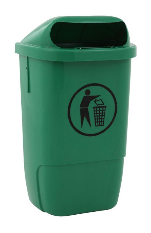 VB 870000 groen Kunststof afvalbak 50l