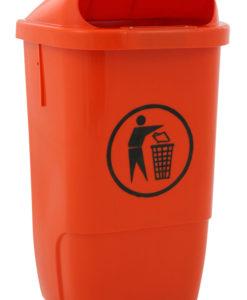 VB 870000 oranje Kunststof afvalbak 50l