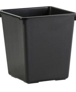 Vierkant papierbak zwart, 27ltr.