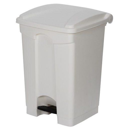 Witte afvalbak met pedaal 68ltr