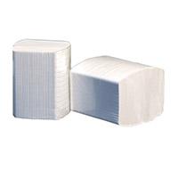 Toiletpapier gevouwen