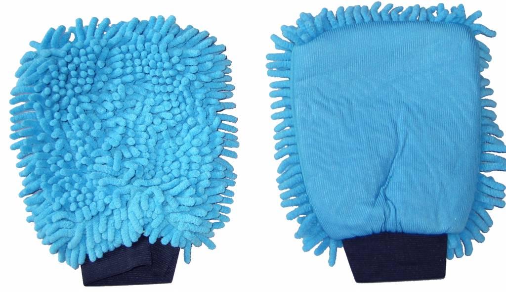 a0cb059e44a Washandschoen microvezel en rasta blauw - Smart Cleaning Center
